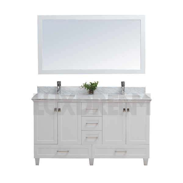 double bathroom vanity ...  sc 1 st  Luxdream Bathroom Vanity : bathroom sink cabinets with drawers - Cheerinfomania.Com
